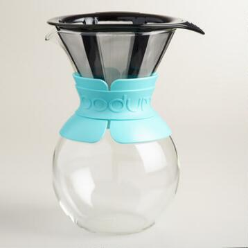 Aqua Bodum Kona Pour Over Drip Coffee Maker