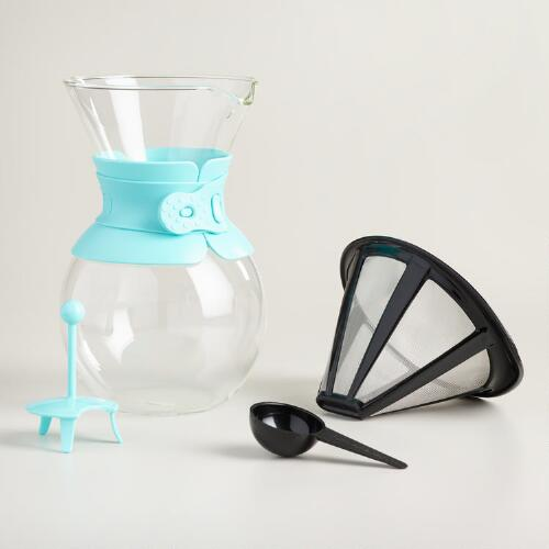 Aqua Bodum Kona Pour Over Drip Coffee Maker World Market