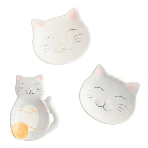 Cat Ceramic Tea Rests Set of 3