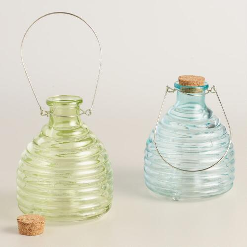 Glass Wasp Catchers Set of 2