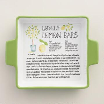 Lemon Ceramic Baking Pan