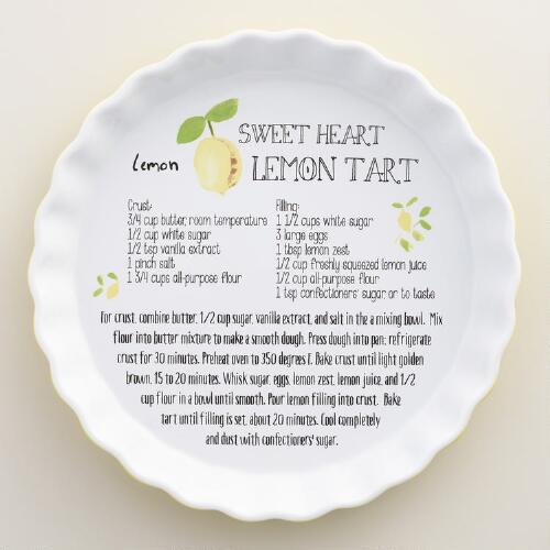 Lemon Ceramic Tart Pan