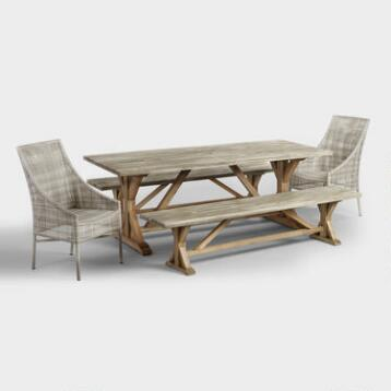 Bistro sets outdoor metal furniture outdoor dining collections world market for World market beer garden table