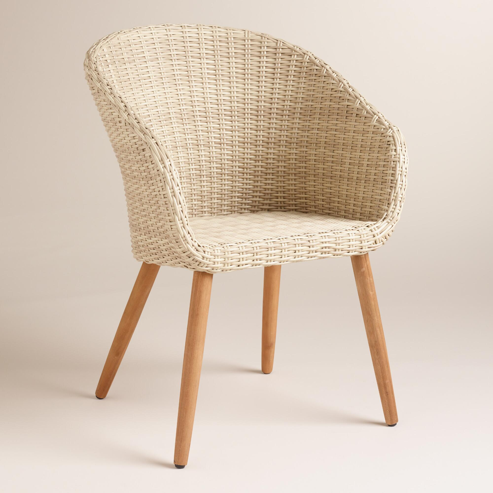 All Weather Wicker Sanya Tub Dining Chairs Set Of 2