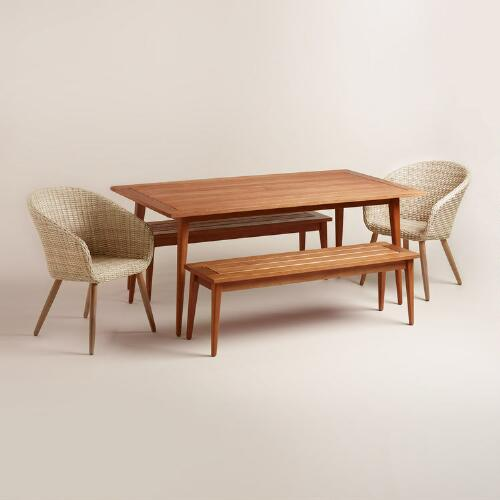 Carmel Mid Century Style Outdoor Dining Collection