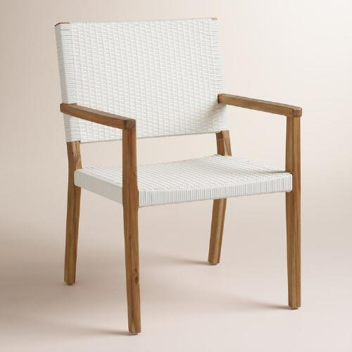 Wood Sirmione Outdoor Dining Chair Set of 2