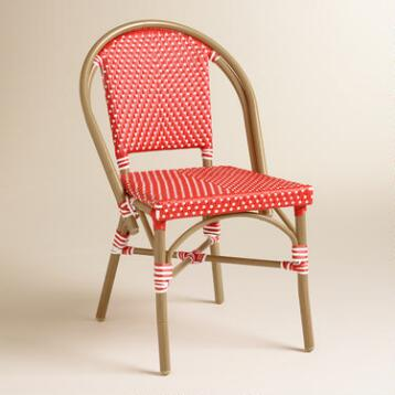 Barbados Cherry Kaliko French Bistro Chairs Set of 2