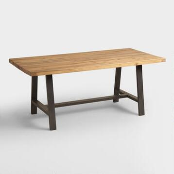 Wood and Metal Coronado A Frame Dining Table