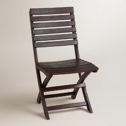 Espresso Wood Mika Folding Chairs Set of 2