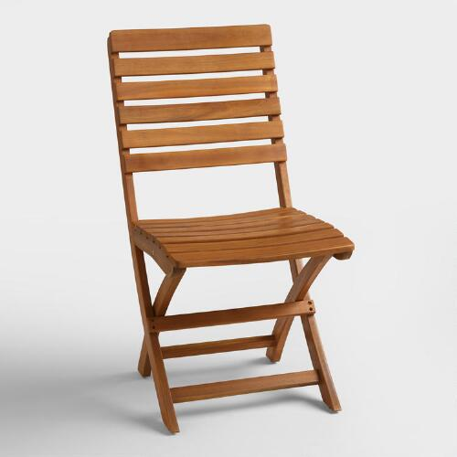 Natural Wood Mika Folding Chairs Set of 2