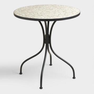 Round Gray Cadiz Bistro Table