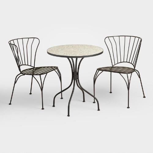 Gray Cadiz Outdoor Bistro Collection