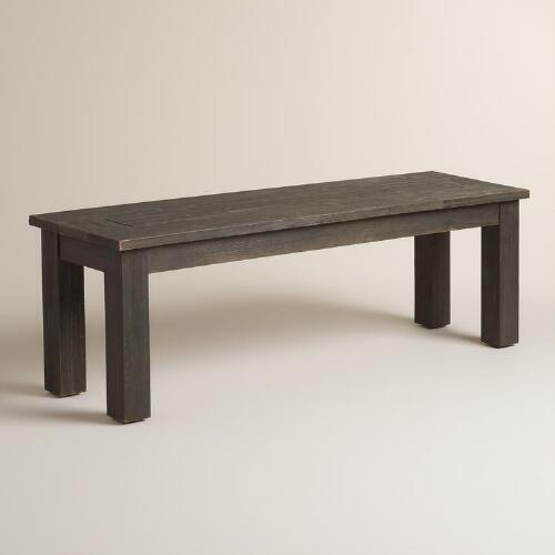 Espresso Wood Hermosa Dining Bench