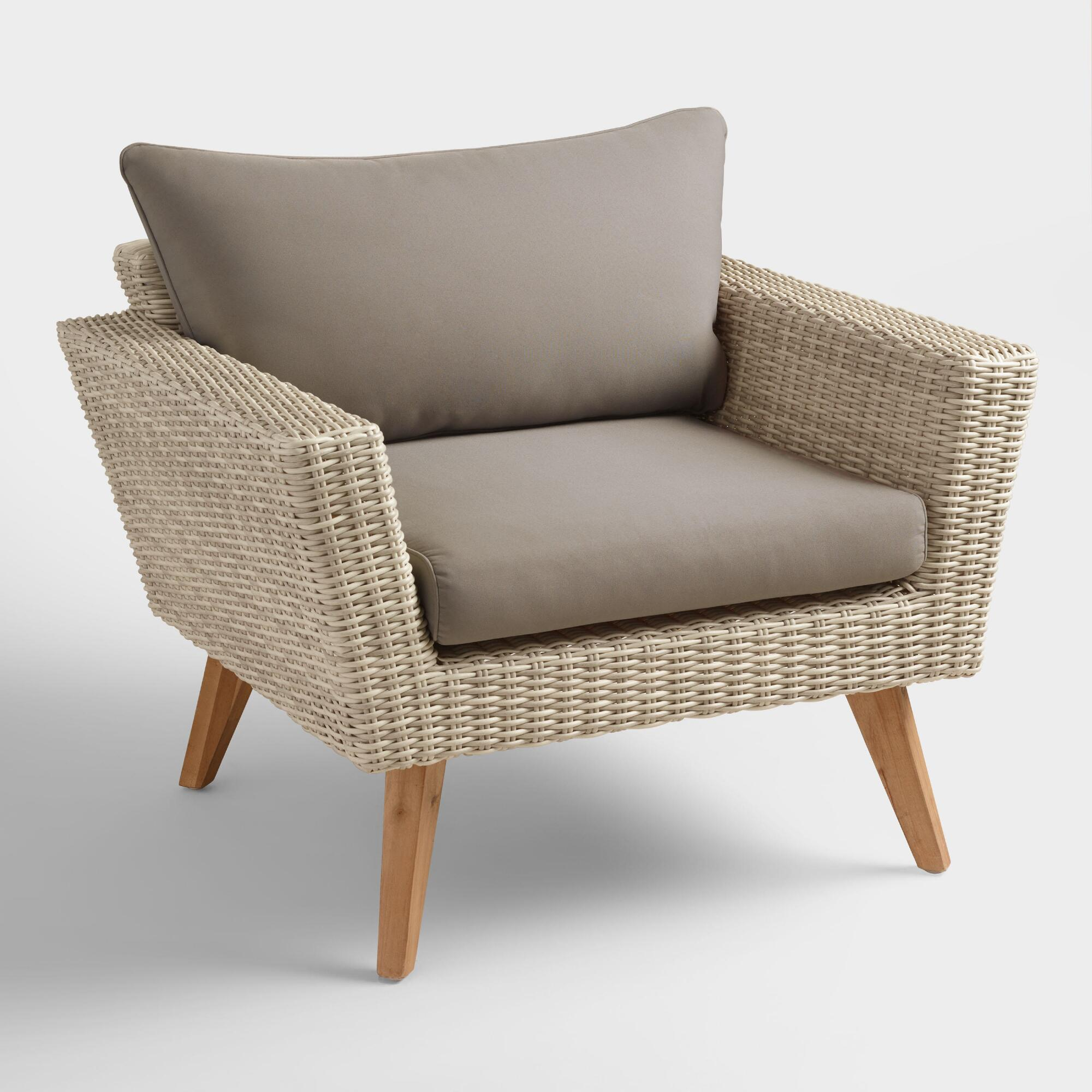 all weather wicker marina del ray occasional chair world market. Black Bedroom Furniture Sets. Home Design Ideas