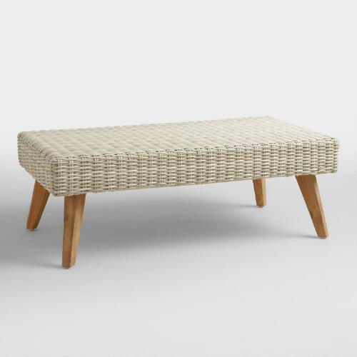 All Weather Wicker Marina Del Ray Coffee Table
