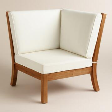 Wood Cayman Corner Sectional Chair