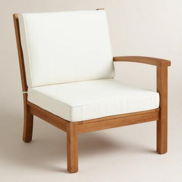Wood Cayman Left Facing Sectional Chair