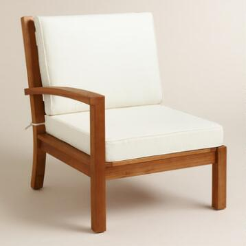 Wood Cayman Right Facing Sectional Chair