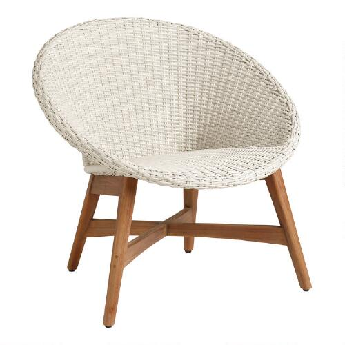 Round all weather wicker vernazza chairs set of 2 world for Outdoor furniture covers world market