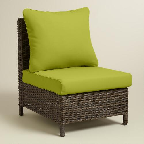 Dark Citron Green Solano Armless Chair Slipcovers