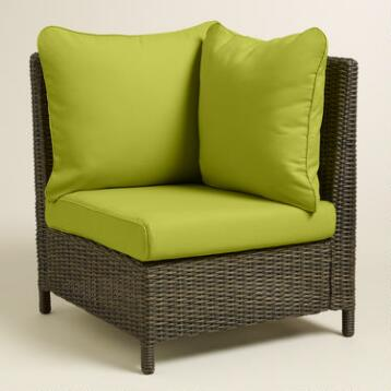Dark Citron Green Solano Armchair Slipcover