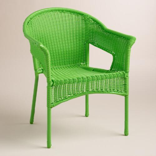 Online Green All Weather Wicker Tub Chair
