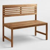 Wood Megano Backed Bench