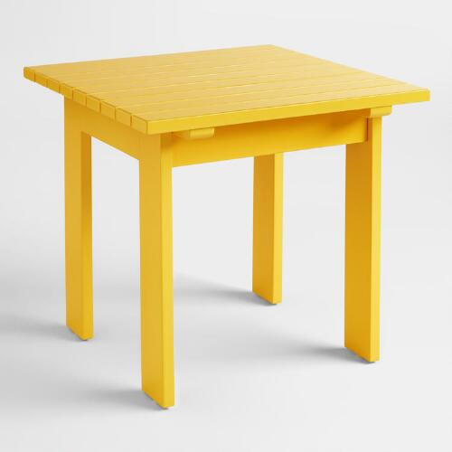 Lemon Adirondack Side Table
