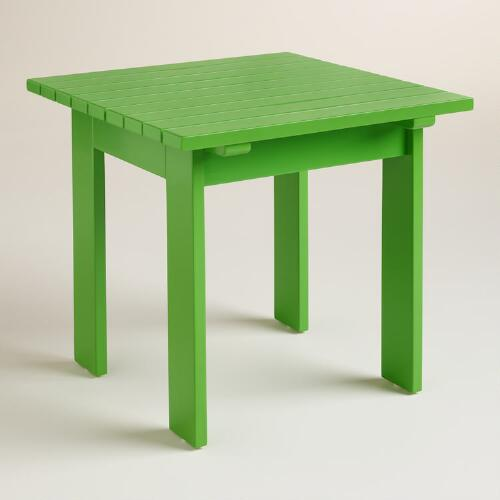 Lime Green Adirondack  Side Table