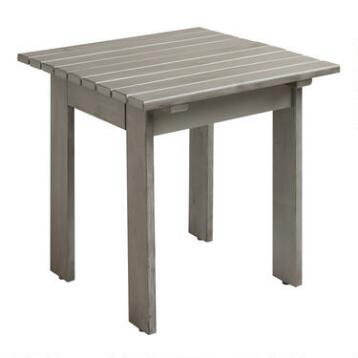 Gray Adirondack Side Table