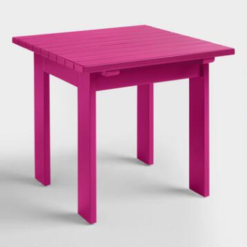 Fuchsia Red Adirondack Side Table