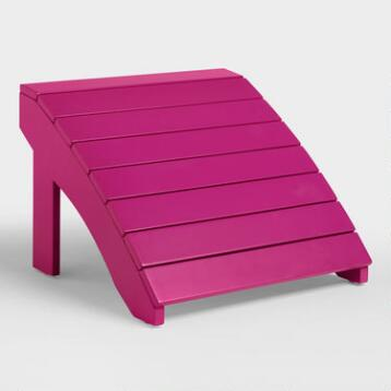 Fuchsia Red Adirondack Stool