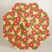 Caribbean Floral 9 ft Umbrella Canopy