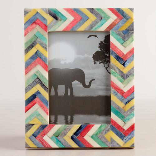 Multicolor Chevron Bone Frame