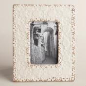 Cream Embossed Ceramic Lia Frame