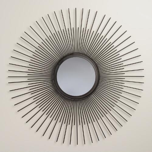 Bronze Metal Sun Mirror