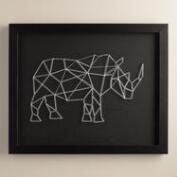 Geo Rhino String Wall Art by Christine Tong