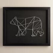 Geo Bear String Wall Art by Christine Tong