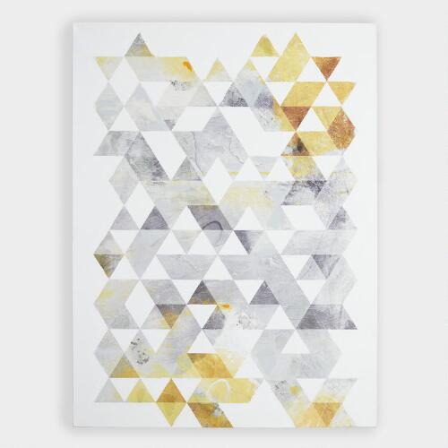 Gold and Gray Geo by Onrei