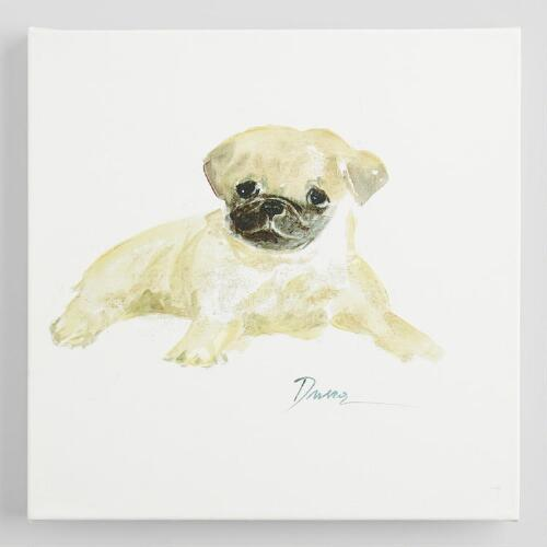 Watercolor Pug by Anna Dusza