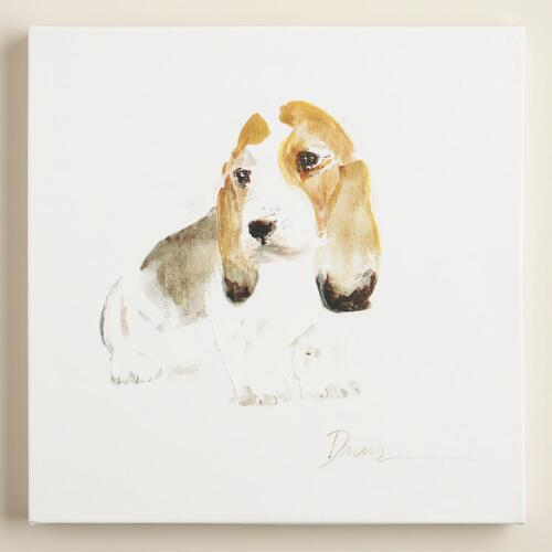 Watercolor Basset Hound by Anna Dusza