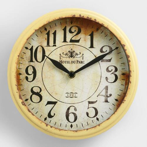 Small Yellow Round Micah Clock
