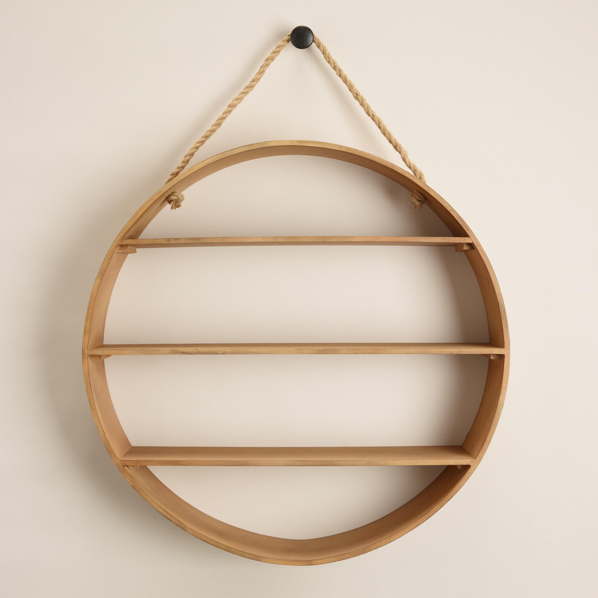 Natural Round Wood Wall Shelf World Market