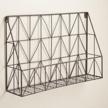 Galvanized Chevron Wire Wall Storage
