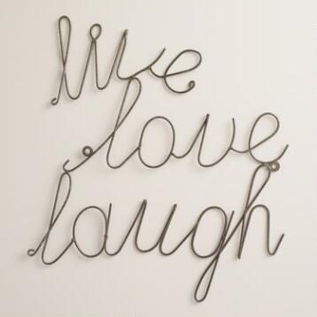 Wire Live Laugh Love Wall Art