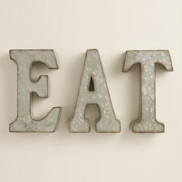 Zinc Metal Eat Sign