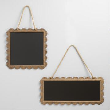 Zinc Metal Scalloped Chalkboard