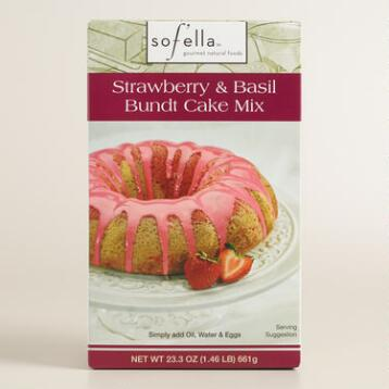 Sof'ella Strawberry Basil Bundt Cake Mix Set of 2