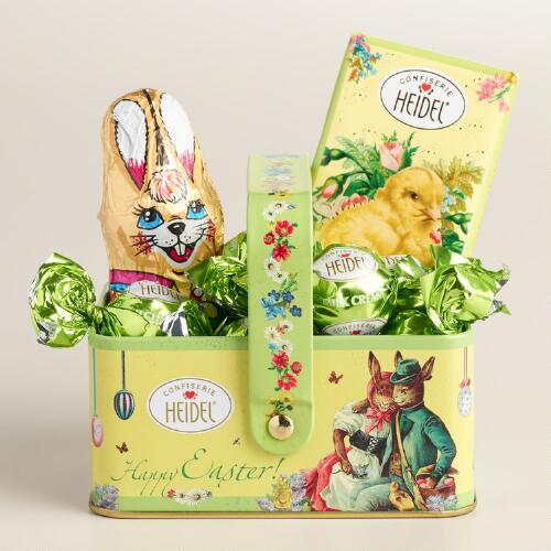 Heidel Chocolate Easter Basket Tin