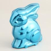 Frey Chocolate Bunny in Blue Metallic Tin